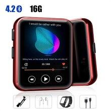 MP3 odtwarzacz z klipsem przenośna MP3 odtwarzacz z Bluetooth 4.2 odtwarzacz muzyczny z FM, pełny ekran dotykowy Mini MP3 odtwarzacz do uprawiania sportów
