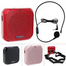 Rolton k400 3 cores portátil com fio mini alto falante de áudio megafone amplificador de voz altifalante microfone banda da cintura clipe