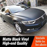 Matte Black Vinyl Film Wrap Car DIY Sticker Vehicle Decal Car Matte Matte Black Body Color Film Low viscosity Self adhesive