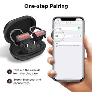 Image 2 - Vislla וו אוזן ספורט אוזניות ריצת אוזניות אלחוטיות Bluetooth 5.0 TWS אוזניות Hifi בס Earbud אוזניות HD Binaural