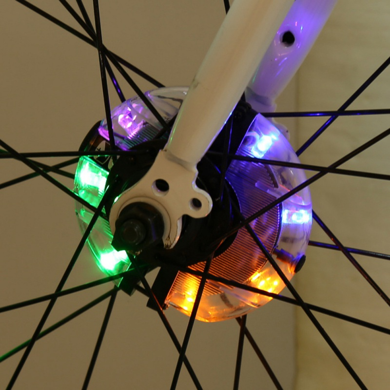 Bicycle Wheel Light Front/Rear Hub Light LED Spoke Warning Lamp Night Safety Decoration Riding Lamp Cycling Accessories