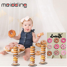 Wooden Donut Wall Stand Party Decoration Doughnut Holder Wedding Display Birthday Supply Baby Shower