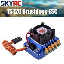 Skyrc Toro TS120 Borstelloze Sensored Esc Ondersteuning Sensor Sensorless Borstelloze Motor Voor 1:10 1:12 Rc Auto Blauw/Zwart/goud