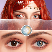 Mislens 1pair(2pcs) Color Eyes lenses for Eyes Black Aether Series Colored Lenses 1Year Use Coloured Eye Lens Makeup Cosplay