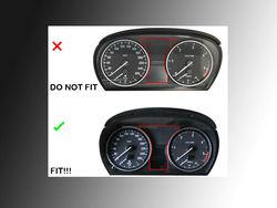 GHXSport Matt Silver Dashboard Dial Gauge Rings Bezel Trim For BMW E60 E61 Pre-LCI M5