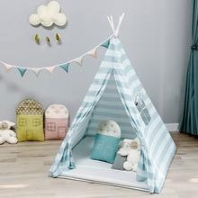 Вигвам палатка для детей, хлопковая Игровая палатка, домик для детей, для мальчиков, типи, палатка, для дома, для улицы, подарки на день рождения, для детской комнаты, вечерние украшения