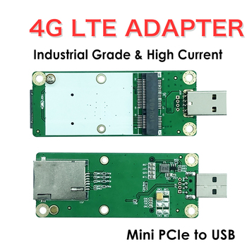4G LTE Industrial Mini PCIe to USB Adapter W/SIM Card Slot For WWAN/LTE 3G/4G Wireless Module 2 4g wireless red laser scanner gun w usb receiver black