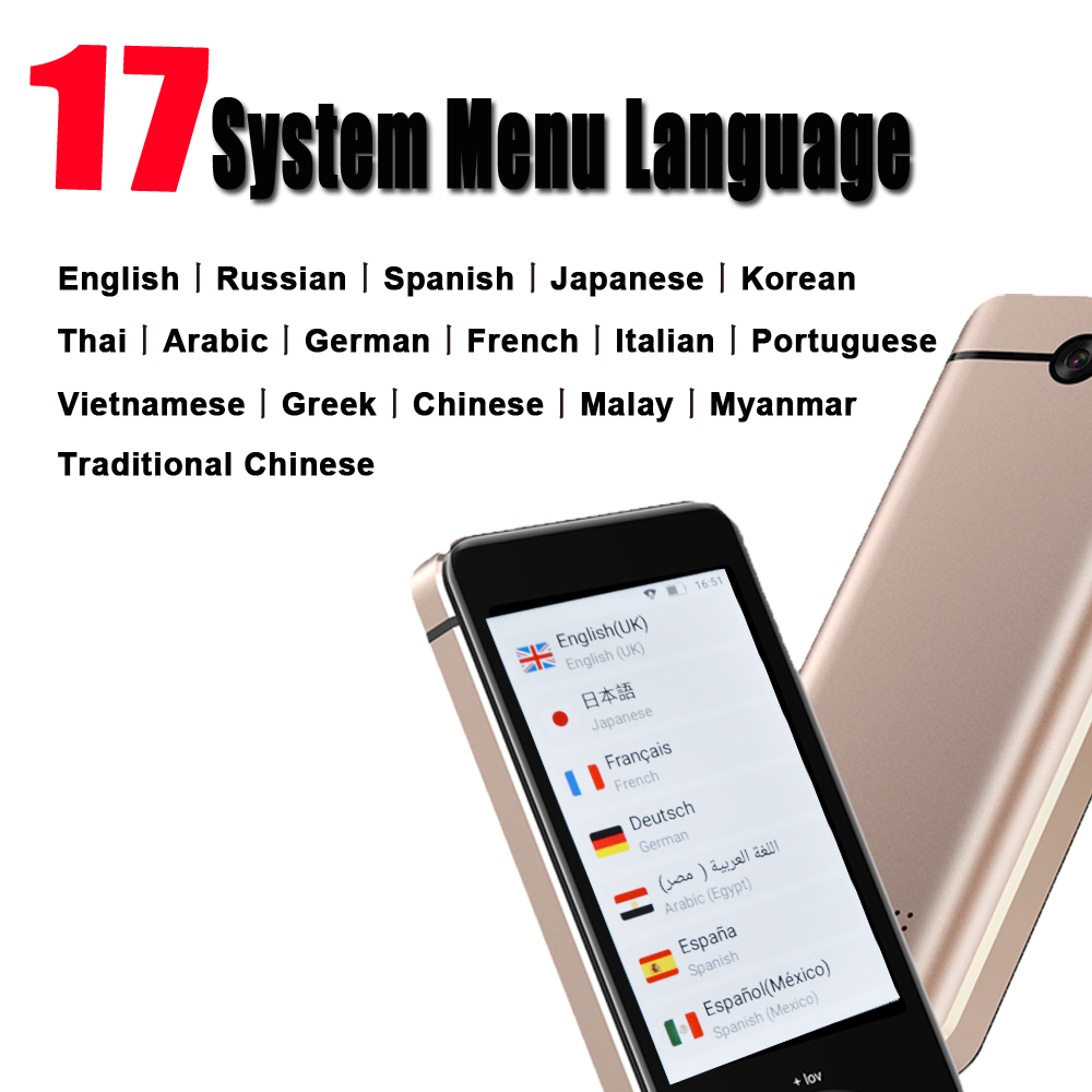CTVMAN Portable Instant Voice Language Translator with offline Translation in Real Time including 3.0 Inch Touch Screen and 17 System Menu Language 3
