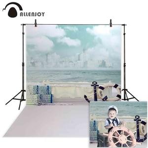 Image 1 - Allenjoy photographic background Jinhae sea boat sky waves backdrops princess kids vinyl photocall 8x12ft