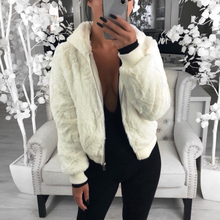 2019 Faux fur Coat Women With Hood New Oversize Coats High Waist Female Slim Fit Overcoat Tops Winter Warm Plush Jackets Outwear