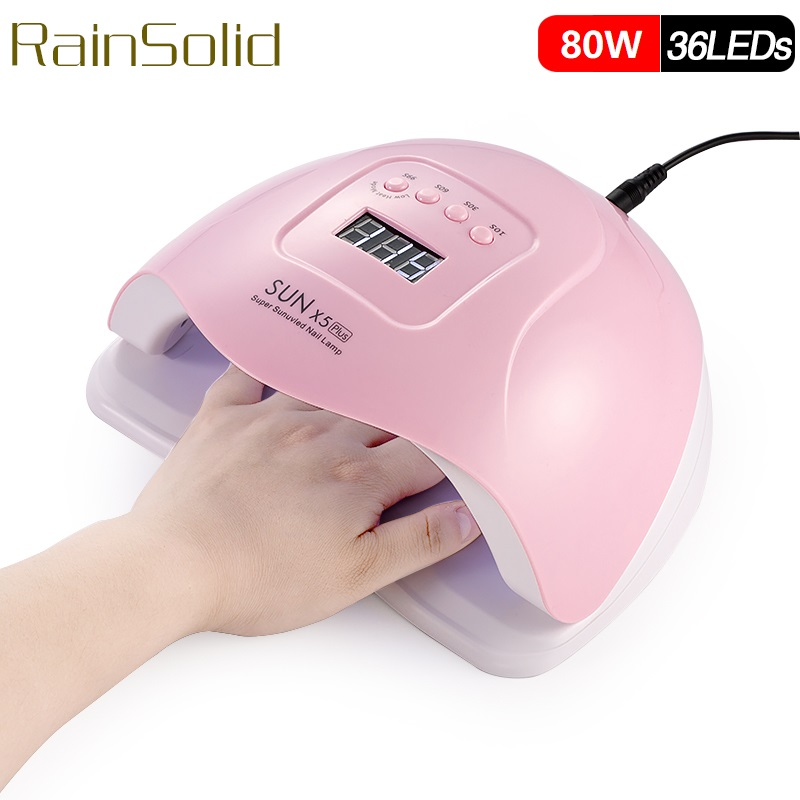 Upgrade SUN X5 Plus UV Lamp LED Nail Lamp 80W Nail Dryer Sun Light For Manicure Gel Nails Lamp Drying For Gel Varnish Nails Art image