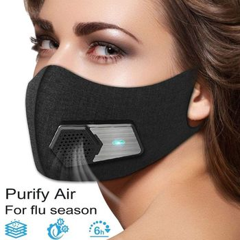 Intelligent Dust-proof Electric Mask Anti Dust Fog Respirator Filter Gas Outdoor Air Breathing Purifier - discount item  28% OFF Workplace Safety Supplies