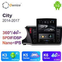 Ownice Android 10 0 Radio samochodowe dla Honda City 2014 #8211 2017 GPS 2 Din Auto Audio System odtwarzacz Stereo 4G LTE styl Tesla tanie tanio CN (pochodzenie) Double Din 9 7 4*45W 128G Jpeg 1G 2G 4G 1024*768 Bluetooth Wbudowany gps Ładowarka Nadajnik fm Telefon komórkowy