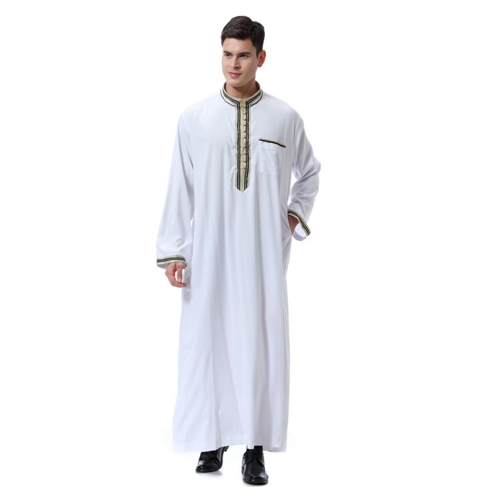 Abaya Arabia Man Muslim Dress Pakistan Islam Clothing Abayas Robe Saudi Kleding Mannen Kaftan Oman Qamis Musulman De Mode Homme