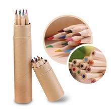 12 couleur petit crayon peinture stylo couleur plomb crayon bureau papeterie écriture peinture pour les étudiants nouveau A30