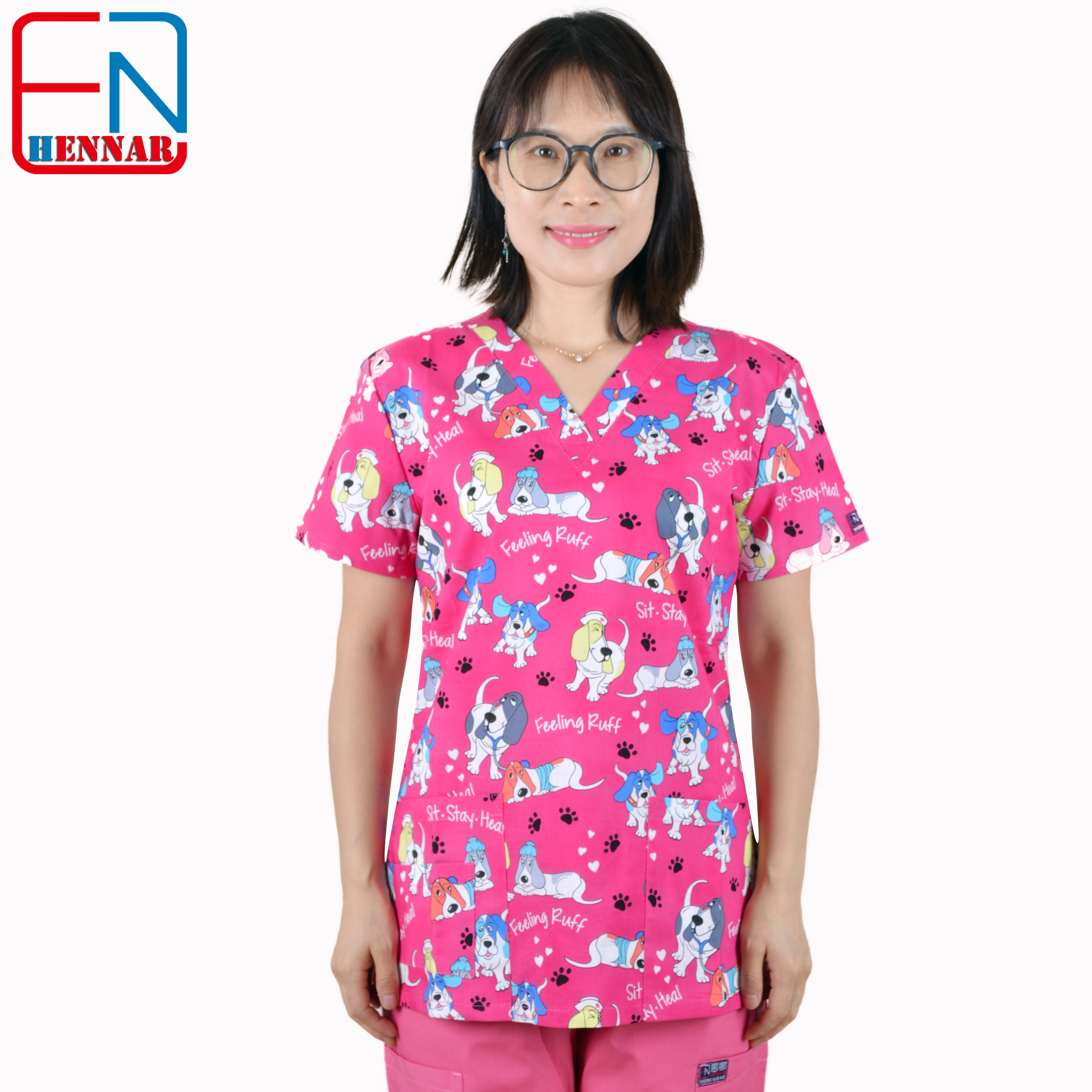 Hennar  Medical Scrubs  Nursing Scrubs  Women Scrubs  Nurse Medical  Uniformes Medicos Para Mujer  Scrub Tops