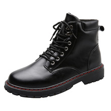 us size classical retro mens boots genuine leather lace up ankle boots zip work safety boots man winter shoes Men Boots PU Leather Causal Shoes Winter Retro Boots Male Work Safety Boots High Top Ankle Boots Men Zapatos De Hombre