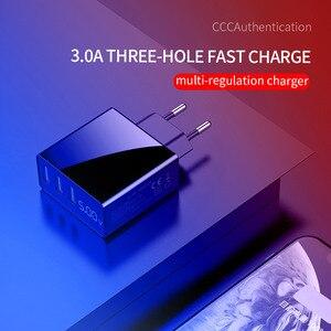Image 3 - 3 Port USB Handy ladegerät Led anzeige EU Stecker Insgesamt Max 3A Smart Schnelle Ladegerät Mobilen Wand Ladegerät für iPhone 12 Pro iPad Samsung
