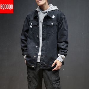 Image 5 - 6XL Baggy Jacken Schwarz Baumwolle Herbst Streetwear Fashion Armee Grün Hip Hop College Militärischen Stil Mantel Japan Bomber Jacke Männer