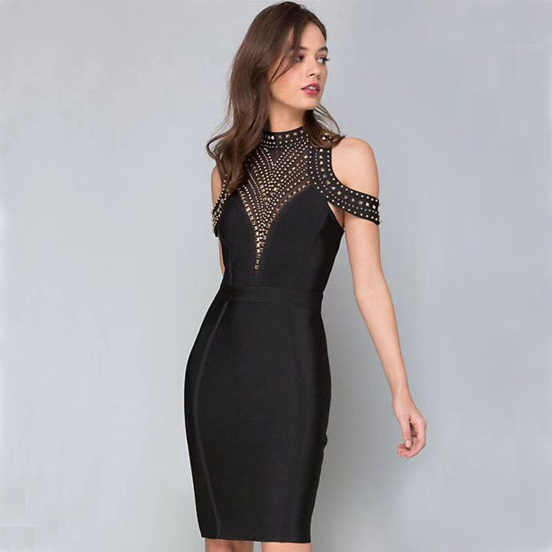 Sexy Black Cocktail Dresses Mini Above Knee Celebrity Party Dress Homecoming Gown Party Dress New Fashion ESAN354