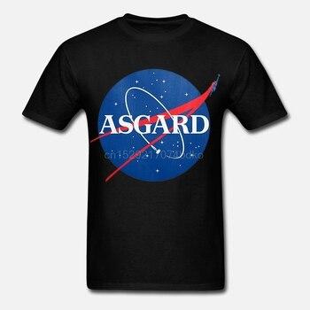Camiseta estampada de algodón para hombres Camiseta de manga corta de cuello redondo para mujer camiseta Asgard Insignia