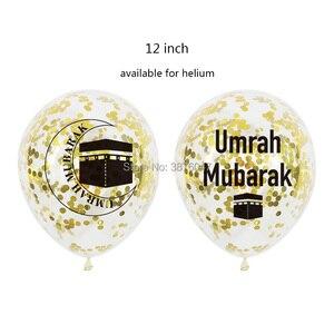 Image 2 - Umrah מובארק בלוני עיד מובארק האיסלאם מוסלמי מסיבת חג השנה החדשה קישוטי מכתב רדיד בלון באנר