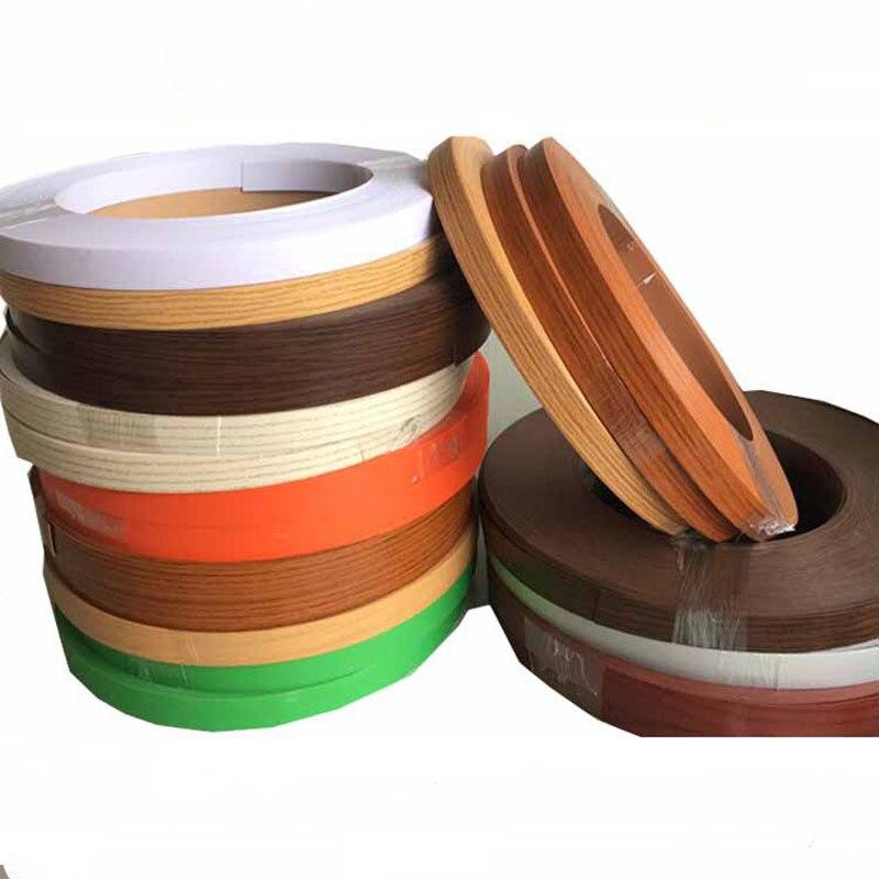 Hot Melt PVC Edge Banding Wood Veneer Cabinet Table Edge Protector Self-adhesive Furniture Board Panel Edge Banding 2-5cm Wide