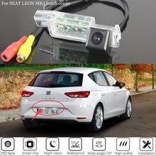 Yeshibation كاميرا الرؤية الخلفية ، لـ SEAT LEON MK3 hatch coupe 2012 ~ 2017 2013 2015 ، الرؤية الليلية ، لوحة الترخيص