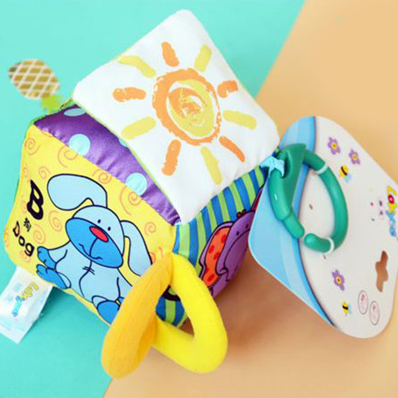 2019 Infant Cartoon Cloth Soft Doll Plush Rattle Early Educational Handbell Building Blocks Exercise Baby Hand Strength Toys