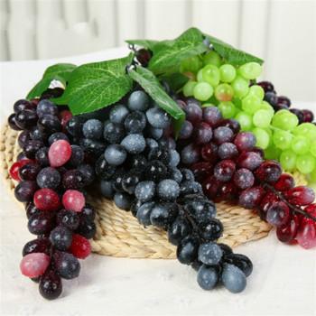 Sztuczne owoce winogrona sztuczne fałszywe owoce dekoracje dla domu DIY symulacja pomarańczowy dekoracja rękodzieło fotografia żywności rekwizyty tanie i dobre opinie grape Żywica 1 pc