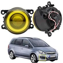 1pair For Opel Zafira B MPV A05 Car Fog Light Kit Angel eye DRL Daytime Running Light 12V 2005 2006 2007 2008 2009 2010 2011