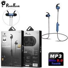 PunnkFunnk Bluetooth 5.0 słuchawki magnes głęboki bas stereo sportowe słuchawki dla iphone 5 6 7 8 X XR XS MAX Xiaomi Oppo samsung