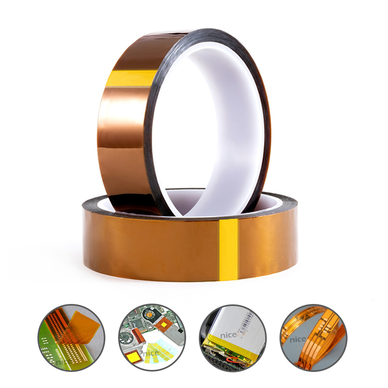 5/10/20/30mm  BGA High-temperature Heat Resistant Polyimide Gold Adhesive Tape For Electronic Industry Tape 100ft
