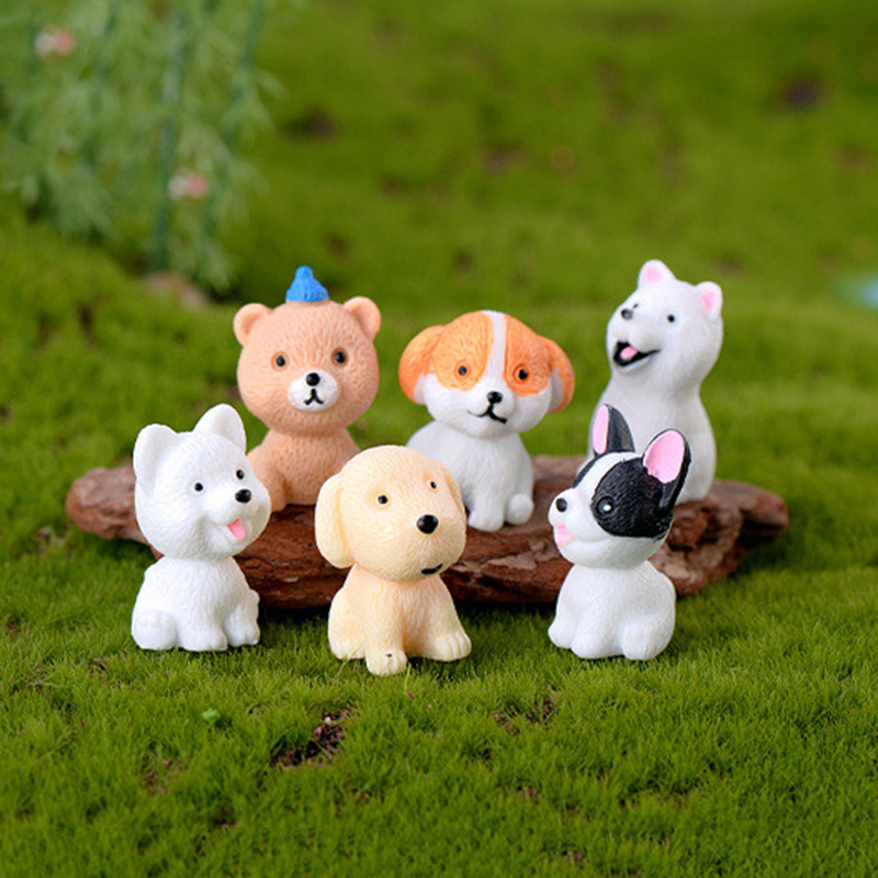 2020 New Multi-breed DIY Cute Dog Micro Landscape Family Decoration Mini Cute Resin Dog Decoration Cute Child Gift Doll Toy image
