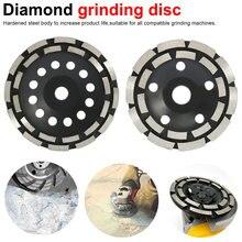 Double rangée meule diamant disque abrasifs outils en béton meuleuse roue travail des métaux coupe meules coupe coupe lame de scie