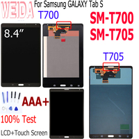 WEIDA For Samsung Galaxy Tab S 8.4 SM T700 SM T705 LCD Display Touch Screen Digitizer Sensors Assembly Panel for T705 T700 LCD