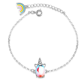 CHENGXUN Cute Unicorn Bracelet for Girls Women Animal Bracelets Romantic Fashion Jewelry Christmas Present for Children Daughter 1