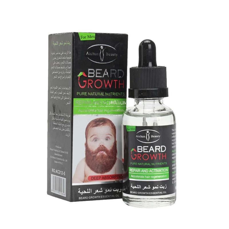 30ml Beard Growth Oil Natural Plant Beard Essential Oil Beard Wax Balm For Men Beard Hair Grooming Anti-lossing Beard Serum