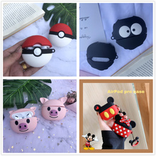 For AirPods Pro Case Cute Cartoon With Ring Cover Luxury Accessories Keychain Silicone Case For Apple Air pods Pro 3 Dust Guard 3d lucky rat cartoon bluetooth earphone case for airpods pro cute accessories protective cover for apple air pods 3 silicone
