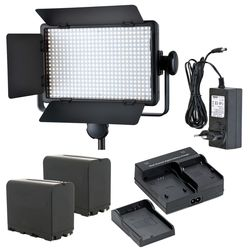 Godox LED500C ( Lux: 2900) 3300K-5600K LED Video Continuous Light Lamp Panel + Dual charger + Battery