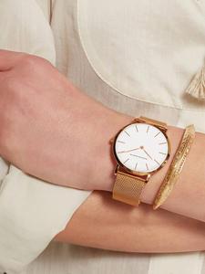 Women Watch Bracelet Mesh Quartz-Movement Rose-Gold Stainless-Steel Waterproof Japan