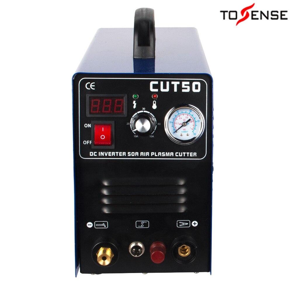 Pilot Arc Cut50 Plasma Cutter Maschine 220V 50A IGBT HF Arbeit mit CNC Kompatibel Zubehör & 1-12mm