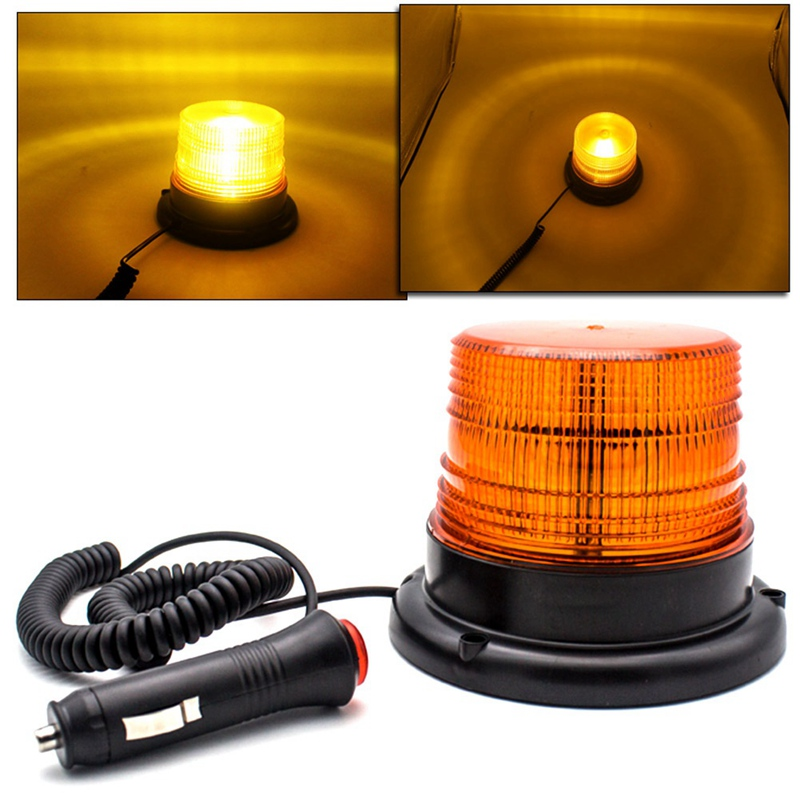 New <font><b>12</b></font>-<font><b>80V</b></font> Car Truck Warning Signal Strobe Light <font><b>12</b></font> <font><b>LED</b></font> Flashing Emergency Lights Beacon Lamp for Traffic Vehicle Tractor image