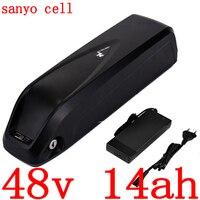 48V batterie 48V 14AH elektrische fahrrad batterie 48v 10.5ah 14ah Lithium-ionen batterie verwenden sanyo zellen für 48V 500W 750W ebike motor