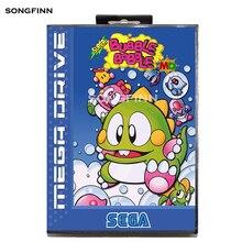 16 bit MD hafıza kartı kutusu Sega Mega sürücü Genesis için Megadrive süper kabarcık Bobble ab