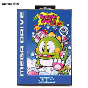 Image 1 - Carte mémoire MD 16 bits avec boîte pour Sega Mega Drive pour Genesis Megadrive Super bulle Bobble EU