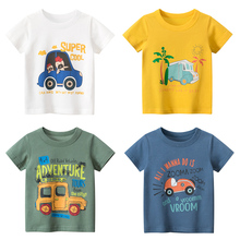 T-shirt for Boys  Summer Kids Clothes Child T-shirts Cotton Children Tops Clothing Baby Shorts Print Car Machine Infant Tee 2019 children t shirt rock band singer star print cotton kids clothes child boys short t shirts baby girl tops tee free shipping