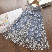 Летнее платье для маленьких девочек, новое платье без рукавов с цветочным принтом для младенцев, платья принцессы, одежда для девочек