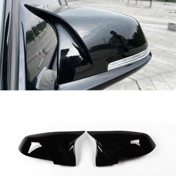 2pcs Auto Car Rear View Side Mirror Cover Trim For BMW F20 F21 F22 F23 F30 F31 F32 F36 X1 E84 F87 M2 Carbon Fiber Style for bmw 4 series f32 f33 f36 420i 428i 435i 2014 up replacement carbon fiber m4 look rear view mirror cover caps