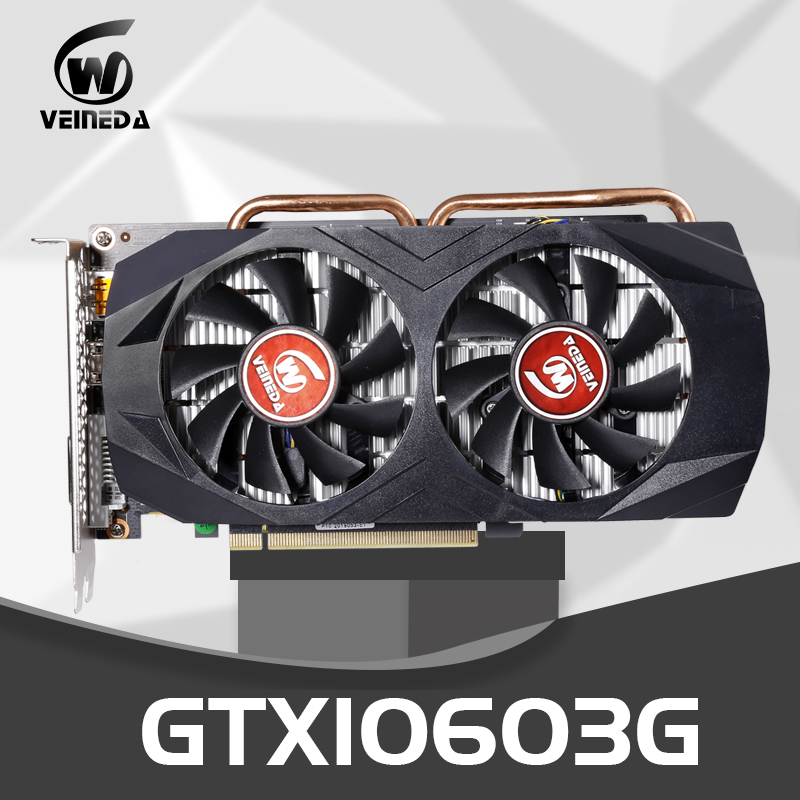 VEINEDA Video Card GTX1060 3GB 192Bit GPU GDDR5 Graphics Cards for <font><b>nVIDIA</b></font> VGA Cards <font><b>Geforce</b></font> <font><b>GTX</b></font> <font><b>1050Ti</b></font> HDMI <font><b>GTX</b></font> 750 Ti 950 1060 image